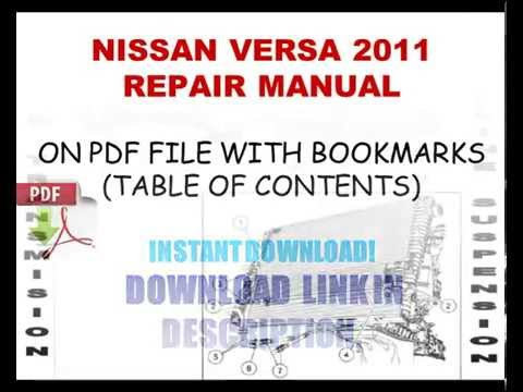 2007 nissan versa service manual pdf