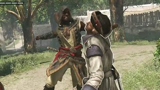 Assassins creed Freedom Cry Free Roam + Action Combat, Takedown & Melee Attack 60fps PS4 Part 1