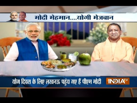 Yogi Adityanath is hosting a dinner in honour of PM Narendra Modi in Lucknow