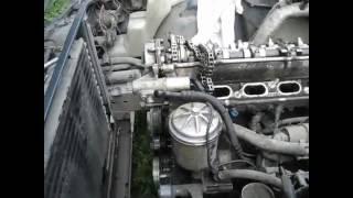 BMW E34 разборка двигателя М50 замена цепи