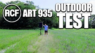 NEW RCF Art 935 Speaker - Outdoor Test & Review