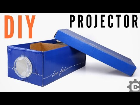 how-to-make-smartphone-projector-at-home-|-diy-shoe-box-projector