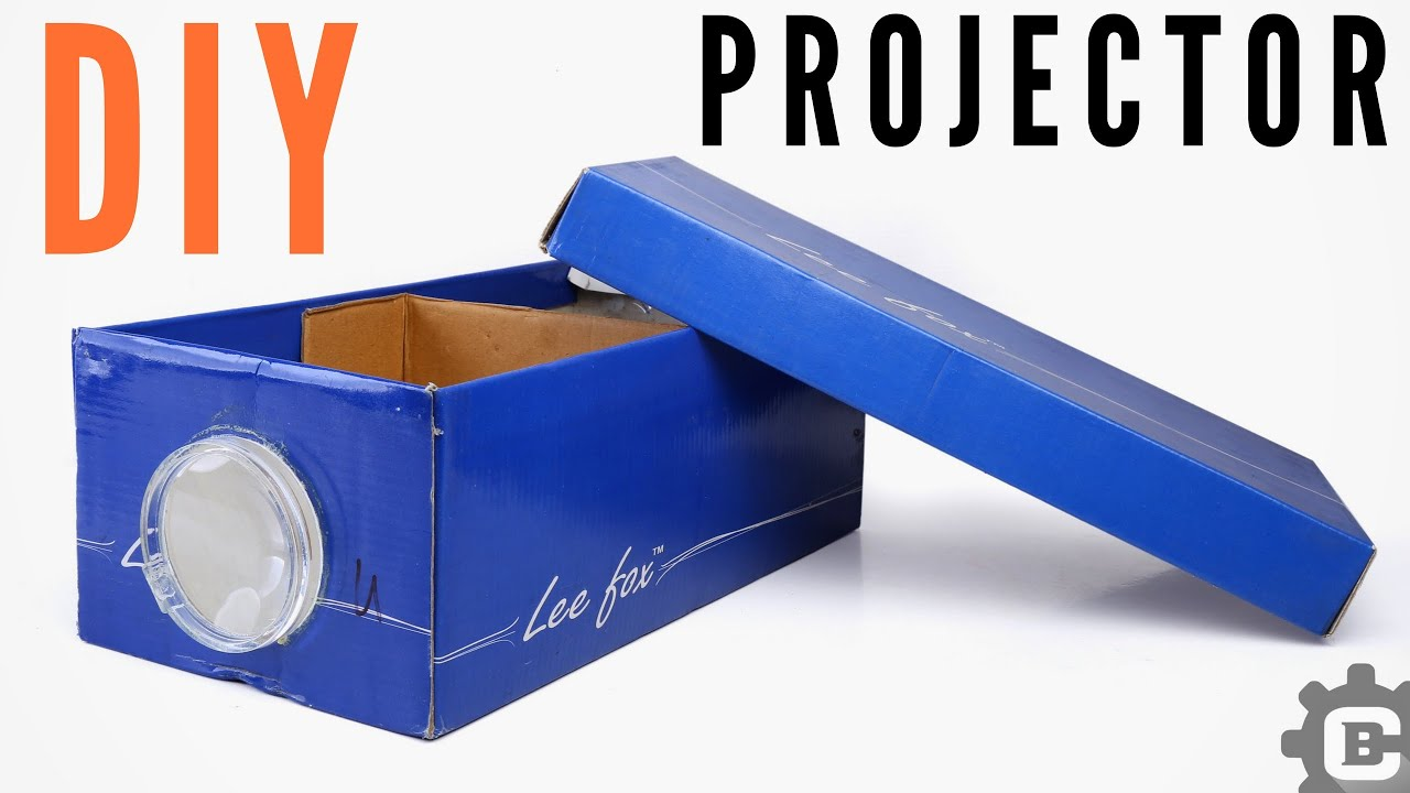 Make A Projector From A Shoe Box