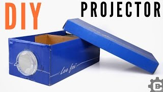 How to make Smartphone Projector at home | DIY Shoe box Projector