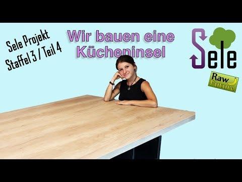 Eine Kücheninsel in unserer Rohkost Küche für 250 Euro selber bauen?