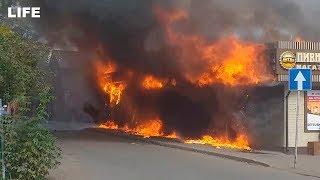 Продуктовый магазин сгорел в Подмосковье