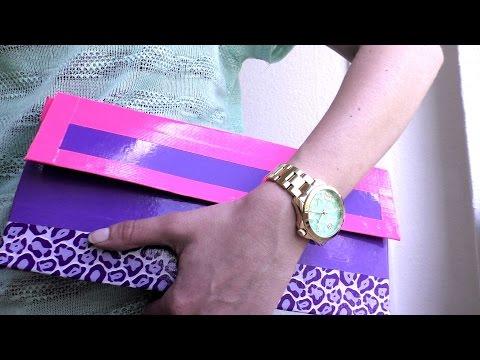 Clutch selber machen – DIY Clutch aus Duck Tape – wie bastelt man eine handtasche Anleitung