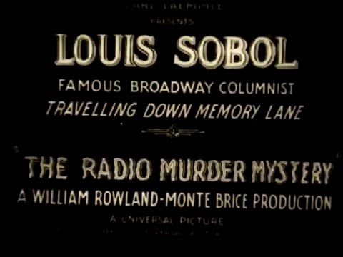 The Radio Murder Mystery (1933)