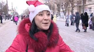 Парад Дедов Морозов в Сызрани
