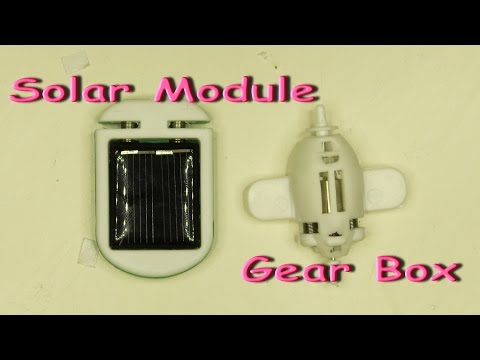 Robot kits solar module and gear box / Electric robots / Solar toys