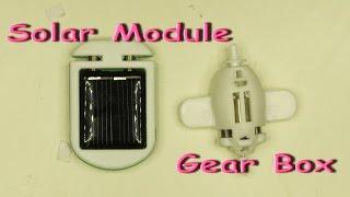 Robot kits solar module and gear box / Electric robots / Solar toys