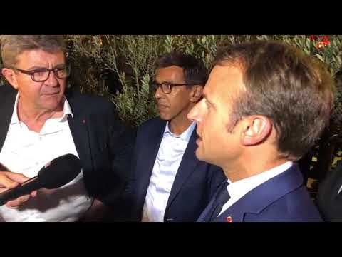 Rencontre entre Emmanuel Macron et Jean-Luc Mélenchon sur le Vieux Port de Marseille