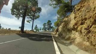 Cycling up Mount Teide from Playa de la Americas.