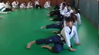 Korean poomsae training drill