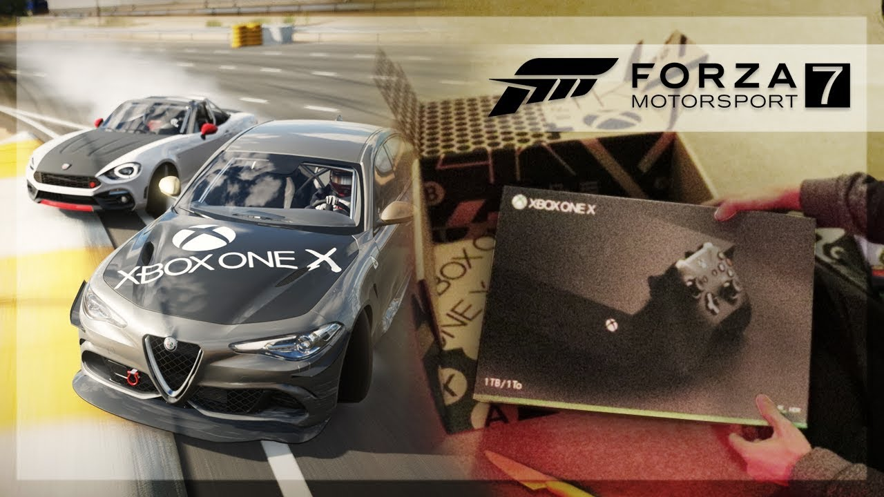 forza motorsport 7 xbox one x unboxing drift challenge. Black Bedroom Furniture Sets. Home Design Ideas