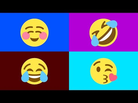 SMILEY EMOJI - Meanings Of All Smileys In English - Smiley Videos For Kids, Toddlers & Preschool