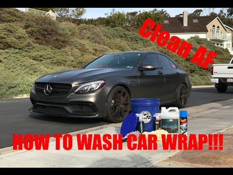 HOW TO WASH A CAR WRAP! THE RIGHT WAY! || HD