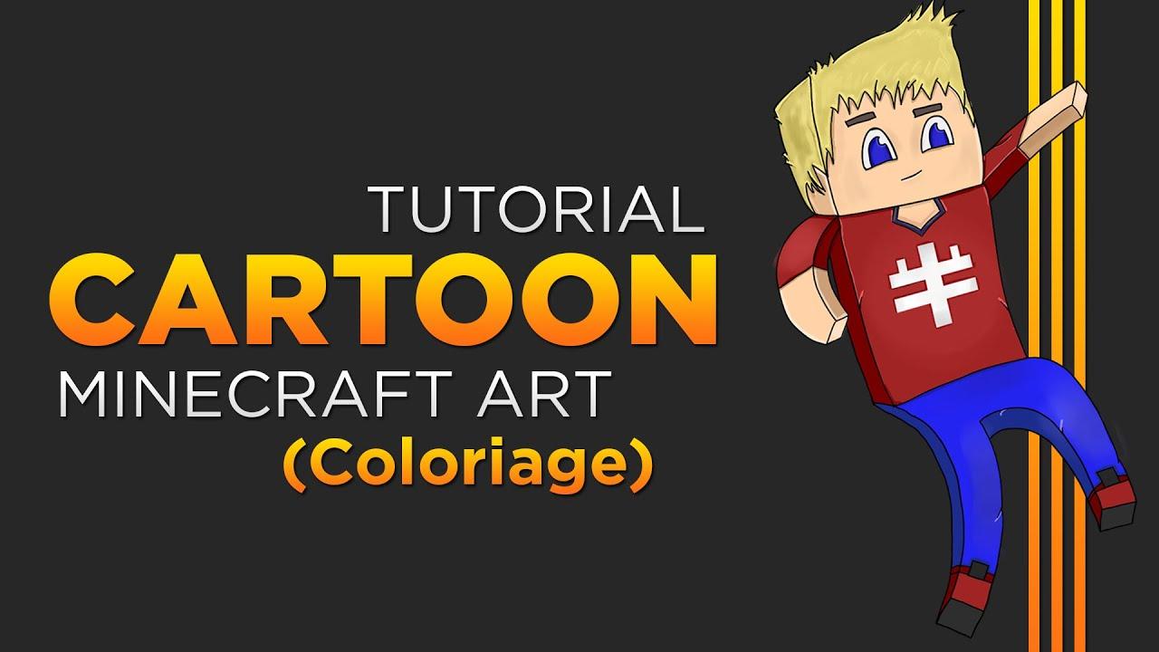 Coloriage Créer des avatars minecraft cartoon Ep2