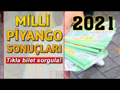 2021 MİLLİ PİYANGO BİLET SORGULAMA