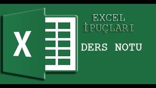 MS Excel Püf Noktaları | 2 Pratik Ders Notu İşlemleri