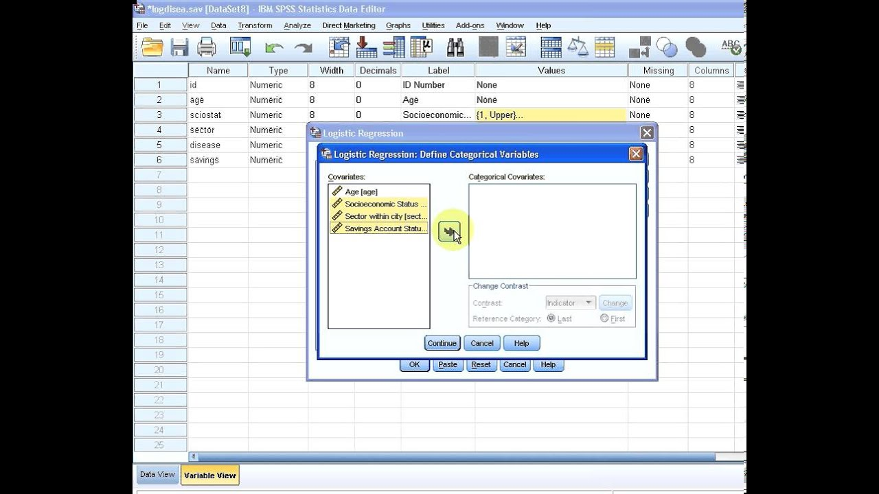 how to run logistic regression in spss