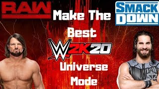 WWE 2K20 - كيفية إنشاء أفضل الكون وضع أي وقت مضى