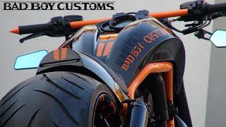 "😈 Harley-Davidson® V-Rod muscle custom ""Carbon 5"" by Bad Boy Customs"