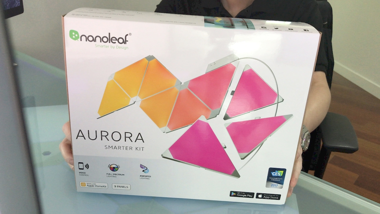 nanoleaf aurora smarter kit complete unboxing in 4k youtube