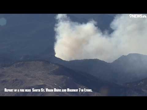 Fire Burning In Lyons, Colorado