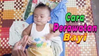 Cara Merawat Bayi Setelah Mandi | Funny Baby and Cute