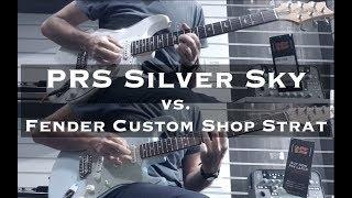 Download John Mayer Silver Sky vs. Custom Shop Strat
