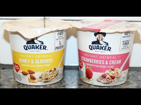 Quaker Instant Oatmeal: Honey & Almonds and Strawberries & Cream Review