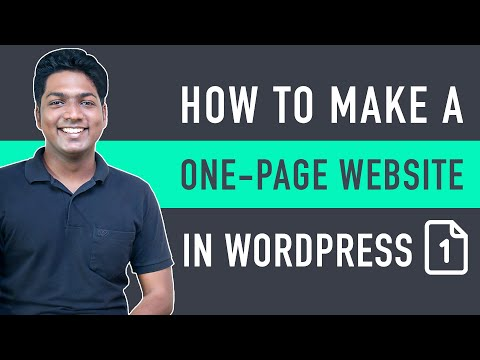 How To Create A One-Page Website In WordPress