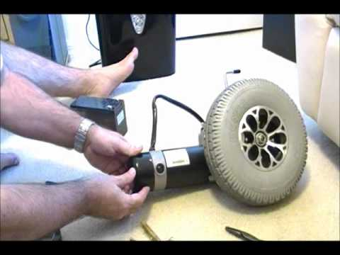 Power chair motor for robotics youtube for How to motorize a wheelchair