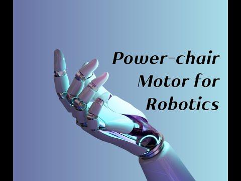wheel chair motor ergonomic mesh from emperor power for robotics youtube