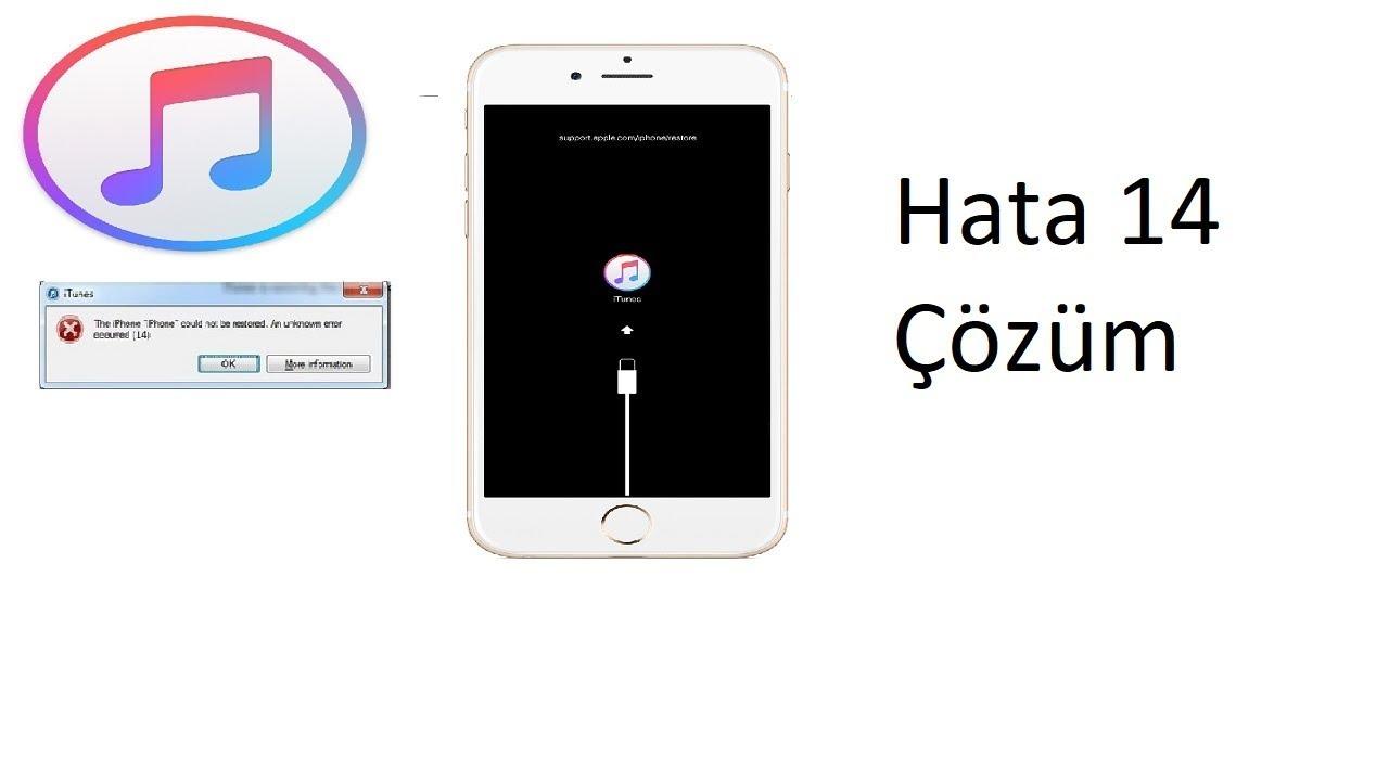 [iTunes hata 14] iPhone geri yükleme hata 14 çözümü  [%99 başarı oranı]