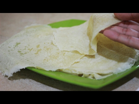 Cara Membuat Kulit Lumpia/ Popiah (spring roll wrappers)