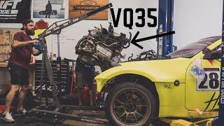 Pulling my VQ Motor | 2JZ 350z Build
