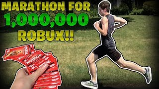 I Ran A MARATHON For 1 MILLION ROBUX! - Linkmon99 IRL #14