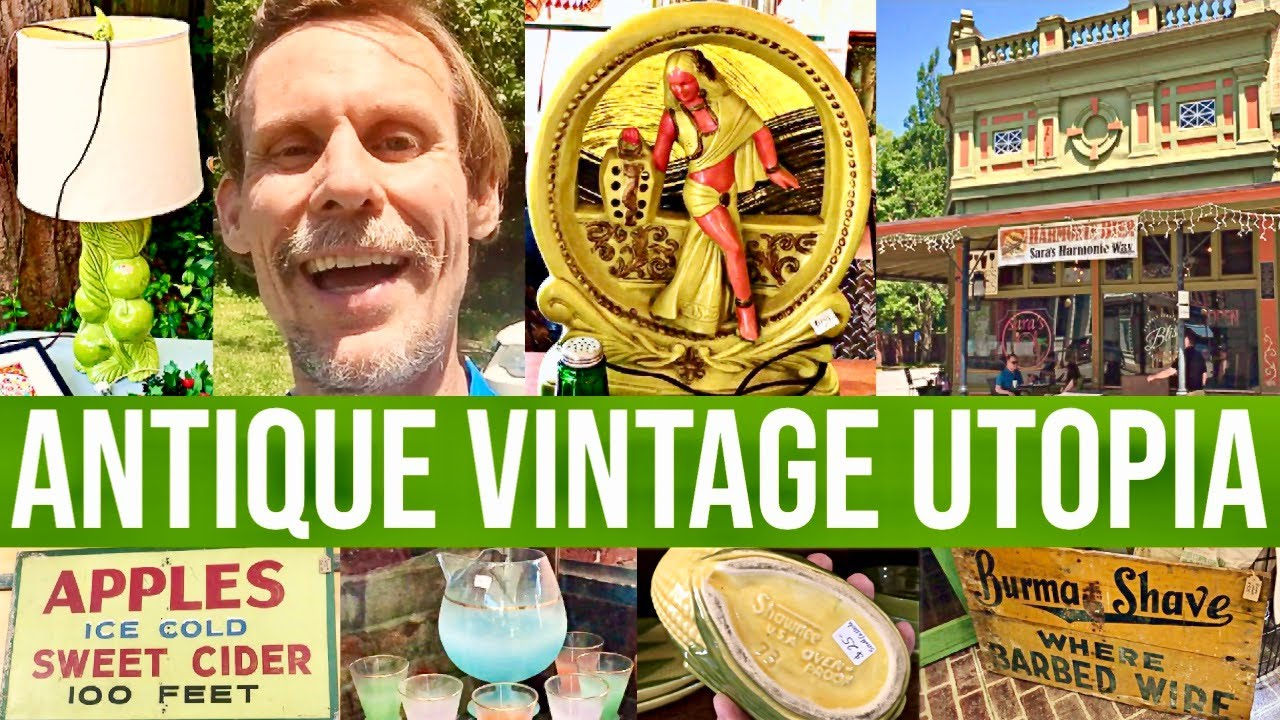 AMAZING ANTIQUE TOWN | VALUABLE VINTAGE SHOPPING FOR RESALE