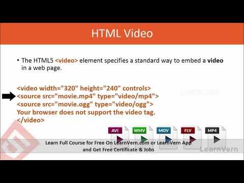 HTML Multimedia Tutorial Video In Hindi