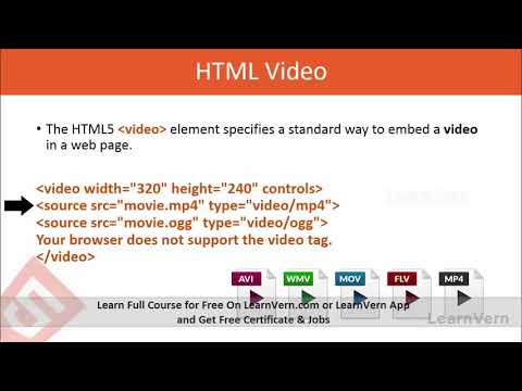 HTML Multimedia Tutorial Video In Hindi - YouTube