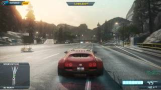 Need for Speed Most Wanted 2012 game play [bugatti veyron ]