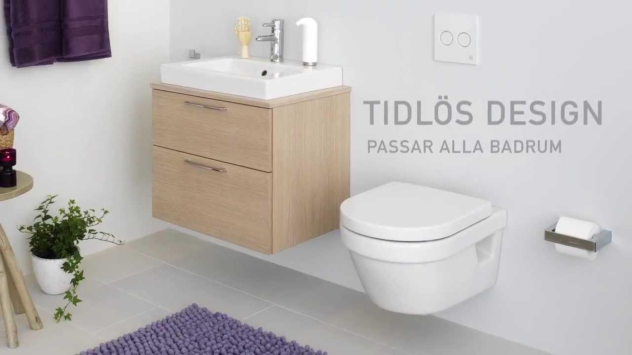 Vägghängd toalett Hygienic Flush Gustavsberg SE - YouTube