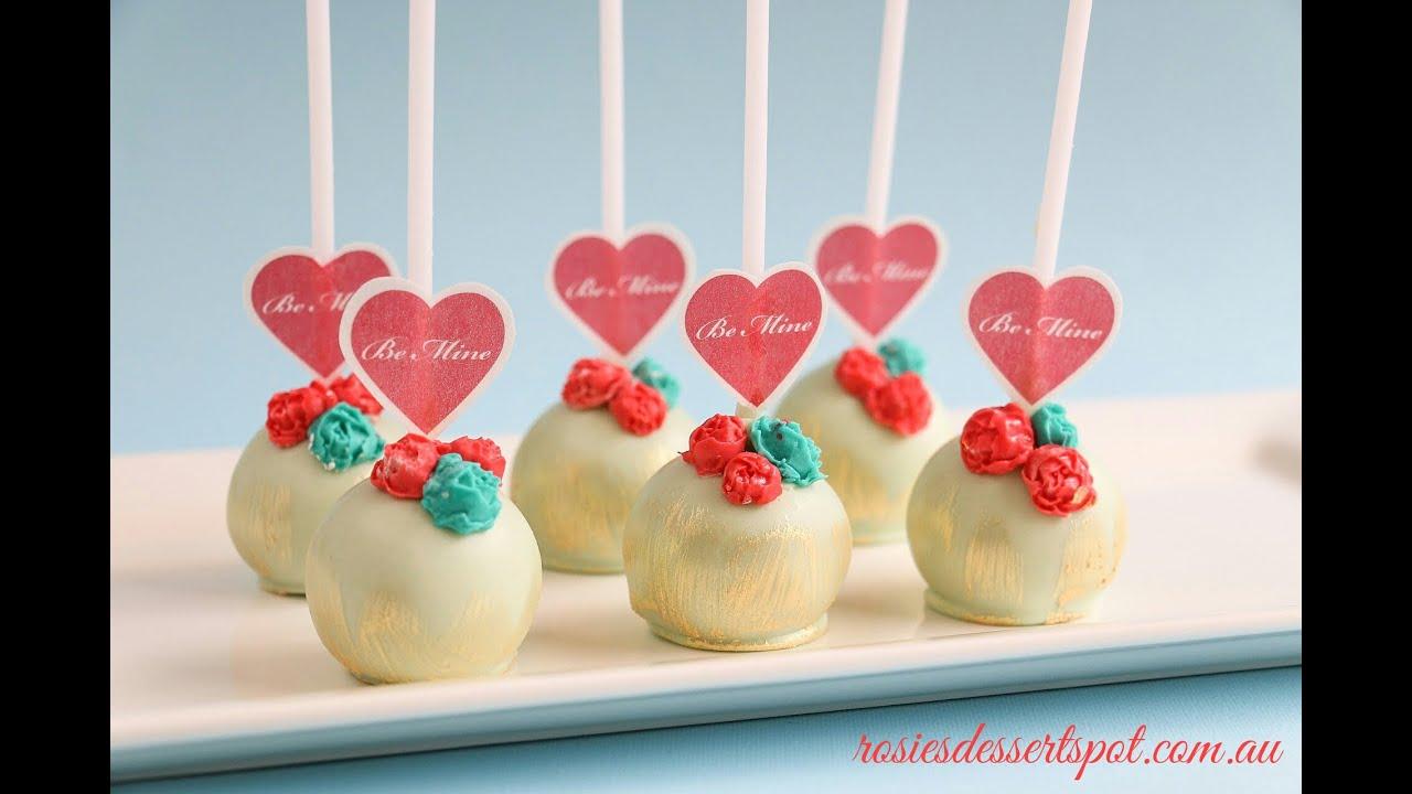 Valentines Day Cake Pop Tutorial