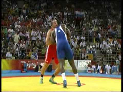 Wrestling-GR 120 kg Final Khasan Baroyev (RUS) vs Mijaín López (CUB)-Beijing 2008 Olympics