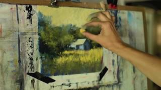 Pastel Landscape Painting with Bethany Fields