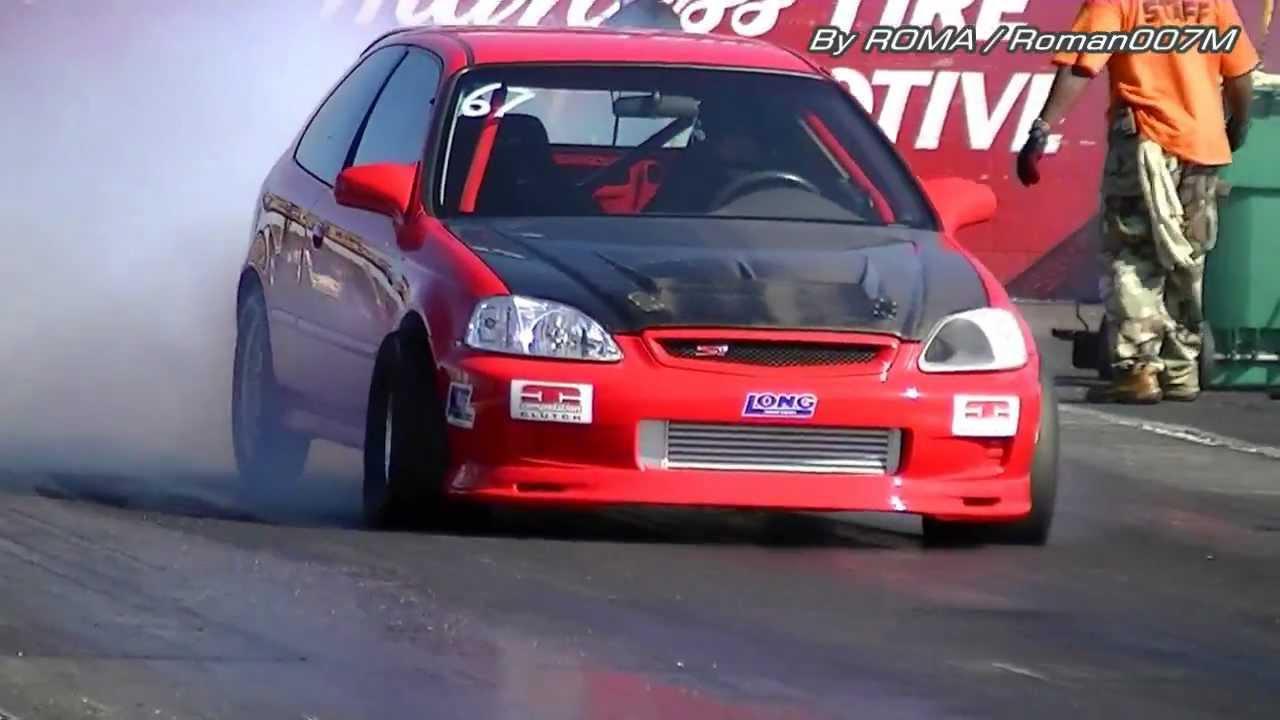 Honda Civic Turbo vs Acura Integra Turbo, Drag Racing HD - YouTube