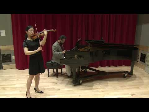 MinJi Kim plays Brahms violin concerto 1st movement