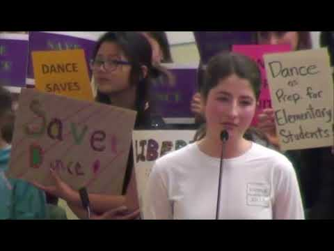 March 14  2018 Berkeley Unified Board Meeting dance ed
